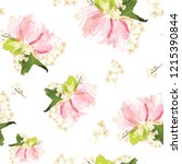 vector seamless pattern with... | Shutterstock .eps vector #1215390844