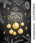 merry christmas and happy new... | Shutterstock .eps vector #1215392824