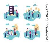 community people activity | Shutterstock .eps vector #1215395791