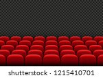 rows of red cinema movie... | Shutterstock .eps vector #1215410701