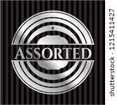 assorted silvery emblem | Shutterstock .eps vector #1215411427