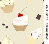 taste pattern | Shutterstock .eps vector #121541755
