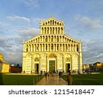 a view of pisa cathedral  pisa ... | Shutterstock . vector #1215418447