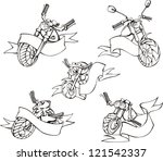 motorcycle templates with... | Shutterstock .eps vector #121542337