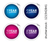 colorful guarantee labels on... | Shutterstock .eps vector #121542841