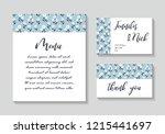 wedding cards invitation... | Shutterstock .eps vector #1215441697