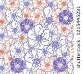 floral seamless pattern... | Shutterstock .eps vector #1215445231