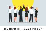 business men and women group... | Shutterstock .eps vector #1215448687
