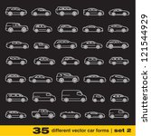 cars icons set 2. 35 different... | Shutterstock .eps vector #121544929
