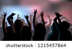 silhouettes of young people... | Shutterstock .eps vector #1215457864
