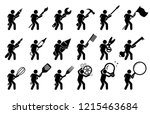 stick figure stick man using... | Shutterstock .eps vector #1215463684