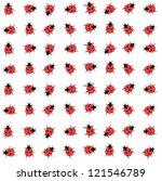 Ladybug On A Flower   Seamless