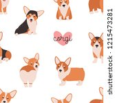 seamless pattern with funny... | Shutterstock .eps vector #1215473281