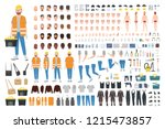 worker or repairer diy kit.... | Shutterstock .eps vector #1215473857