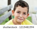 portrait of happy smiling child ... | Shutterstock . vector #1215481594