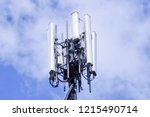 cellular base station or base... | Shutterstock . vector #1215490714