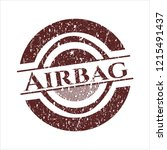 red airbag grunge seal | Shutterstock .eps vector #1215491437