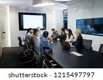 picture of businesspeople... | Shutterstock . vector #1215497797