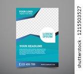 poster  flyer design template | Shutterstock .eps vector #1215503527