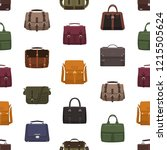 seamless pattern with trendy... | Shutterstock .eps vector #1215505624