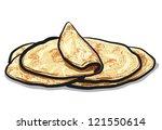 pita bread | Shutterstock .eps vector #121550614