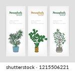 set of vertical banner...   Shutterstock .eps vector #1215506221