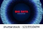 big data stream visualization.... | Shutterstock .eps vector #1215510694