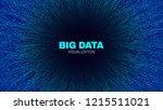 energy flow concept. big data... | Shutterstock .eps vector #1215511021