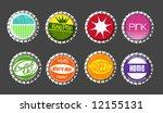 vector bottle cap buttons set 2 | Shutterstock .eps vector #12155131