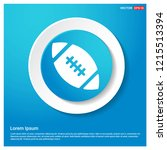 rugby ball icon abstract blue...