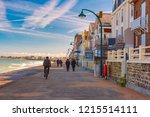 high stone embankment at hide... | Shutterstock . vector #1215514111