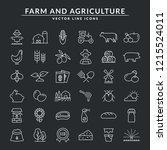 farming and agriculture web... | Shutterstock .eps vector #1215524011