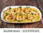 turkish cuisine artichoke | Shutterstock . vector #1215533101