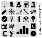 set of 22 business high quality ... | Shutterstock .eps vector #1215535711