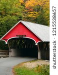 A Rustic Covered Bridge Is...