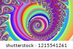 psychedelic spiral holographic... | Shutterstock . vector #1215541261