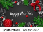 christmas and new year...   Shutterstock .eps vector #1215548014