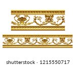 golden  ornamental segment ... | Shutterstock . vector #1215550717