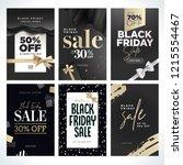 black friday sale. vector... | Shutterstock .eps vector #1215554467