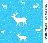 background deer under the... | Shutterstock .eps vector #1215561907