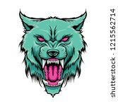 angry wolf face illustration | Shutterstock .eps vector #1215562714