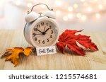 fall back daylight saving time... | Shutterstock . vector #1215574681