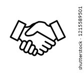 handshake icon trendy design... | Shutterstock .eps vector #1215589501