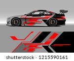 racing car wrap design vector.... | Shutterstock .eps vector #1215590161