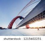 Zhivopisny Bridge Moscow Winter....