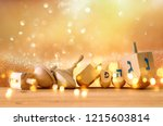 banner of jewish holiday...   Shutterstock . vector #1215603814