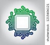 cpu microprocessor illustration.... | Shutterstock .eps vector #1215606121