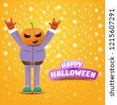vector happy halloween creative ...   Shutterstock .eps vector #1215607291