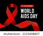 world aids day. vector... | Shutterstock .eps vector #1215608827