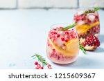 festive drinks  citrus ... | Shutterstock . vector #1215609367